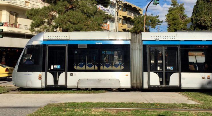 Tram to beach