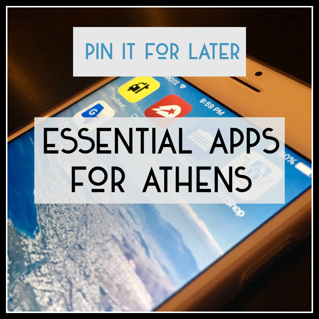 Essential Apps to use in Athens | Athens Coast