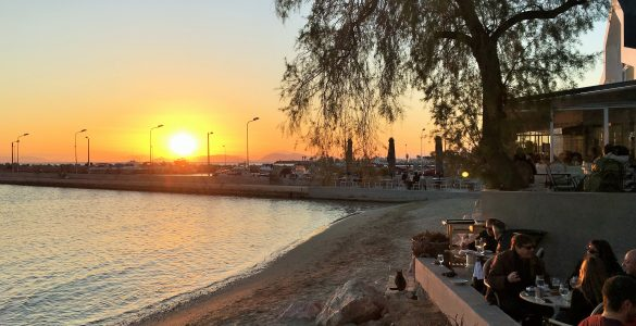 Glyfada Sunset Athens Greece