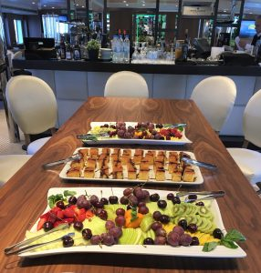 Evermore Cruise VIP Lounge snacks