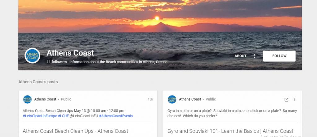 Athens Coast Google+