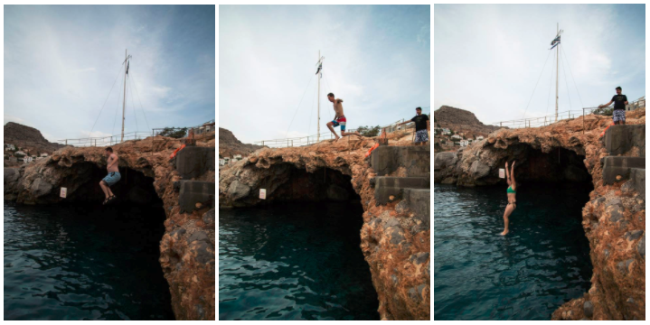 Cliff Jumping Hydra Greece