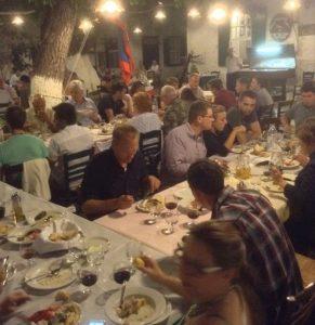 DInner at Xeri Elia Hydra Greece
