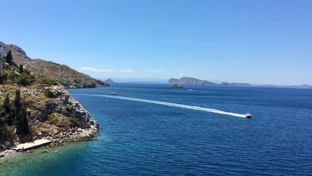 Walk to Kamini on Hydra Island
